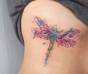 dragonflies and tattoo image