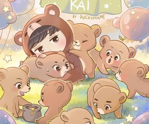 exo, fanart, and kai image