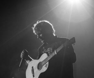 ed sheeran, black and white, and music image