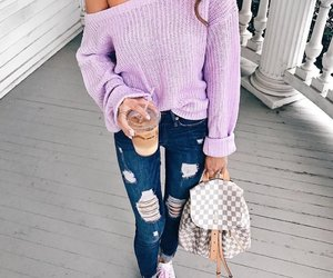blonde, jumper, and fashion image