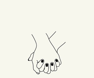 couple, hands, and draw image
