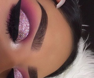 eyes, eyebrow, and make up image