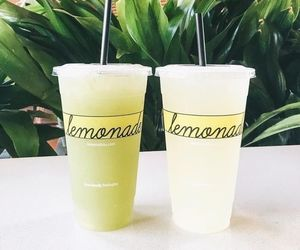 lemonade, drink, and food image