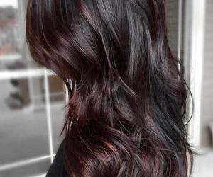 hair, girl, and dark image