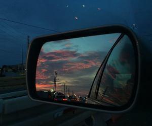 blue, sky, and car image