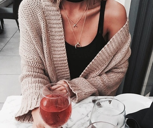 fashion, outfit, and drink image