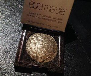 makeup, gold, and nails image