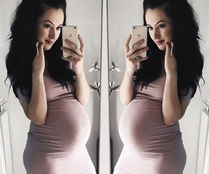baby bump, dress, and fashion image
