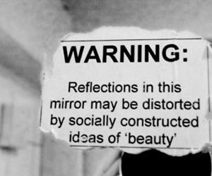 beauty, mirror, and society image