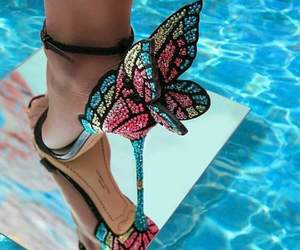 shoes, butterfly, and beauty image