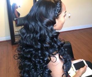 hair, curls, and bundles image