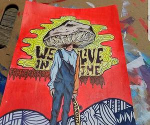 art, drawing, and mushroom image