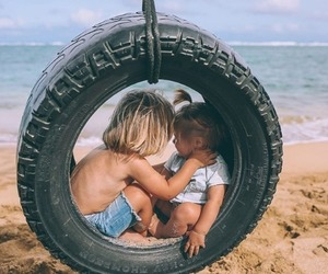 babies, summer, and beach image