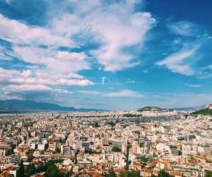 ancient, Athens, and blue image
