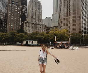 beach, chicago, and converse image
