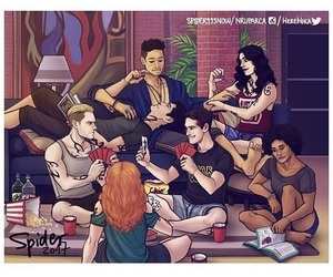 shadowhunters, alec lightwood, and magnus bane image