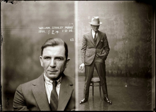 1920s and mugshot image