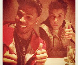 justin bieber, chris brown, and swag image