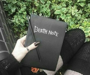 death note, black, and anime image