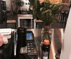 aesthetic, cashier, and coffe image