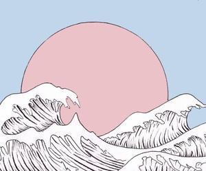 art, pink, and pastel image