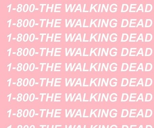 pink, wallpaper, and the walking dead image