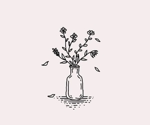 flowers, aesthetic, and drawing image