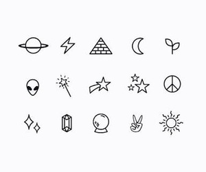 stars, moon, and tattoo image