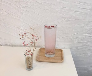 aesthetic, pink, and drink image