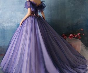 dress, purple, and princess image