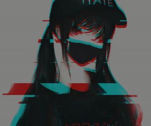 anime, dark, and glitch image