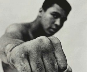 muhammad ali, boxer, and black and white image