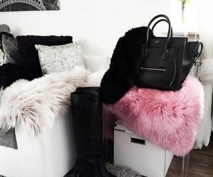 bag, black, and pink image