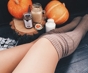 autumn, pumpkin, and socks image
