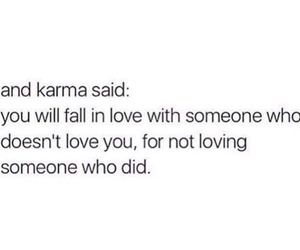 fall in love, karma, and wrong guy image
