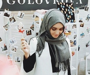 hijab, style, and islam image