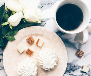 coffee, drink, and flowers image