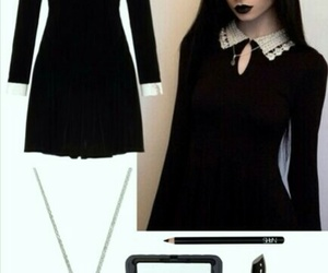 black, classic, and goth image