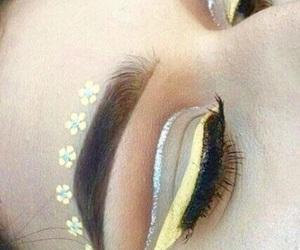 creative, eyebrows, and eyelashes image
