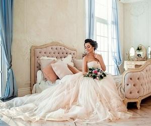 bridal, romantic, and wedding dress image