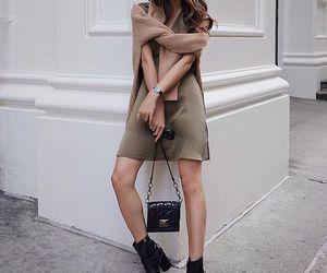 bag, dress, and minimal image