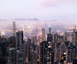city, travel, and night image
