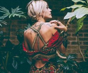 blonde, bohemian, and green image