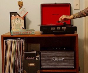 marshall, music, and record player image