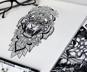 animal, art, and black image
