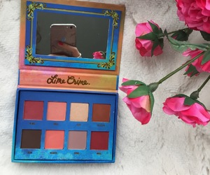 eyeshadow, flowers, and make up image