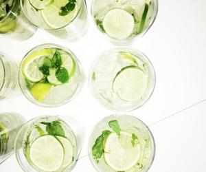 drink, green, and lemon image