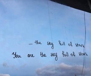 coldplay, Lyrics, and sky image