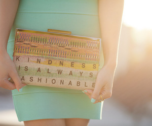 fashion, kindness, and text image