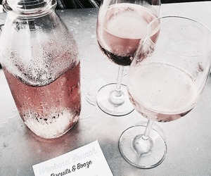 drink, pink, and wine image